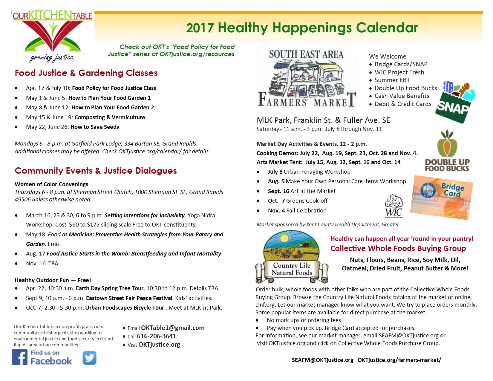 2017 community calendar O