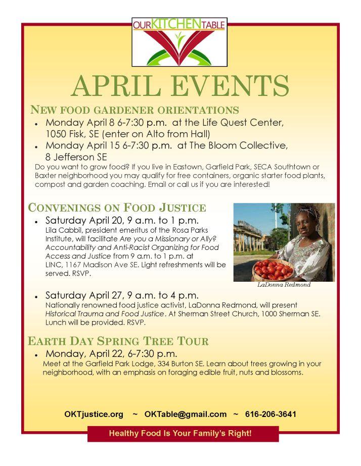 April events 2013