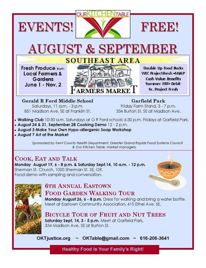 Aug - Sept events 2013