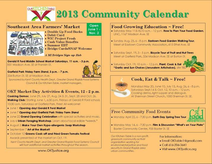 Community Calendar 2013 5-8