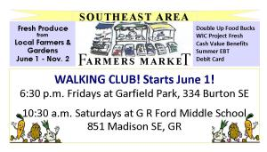 SEAFM Walking Club ad