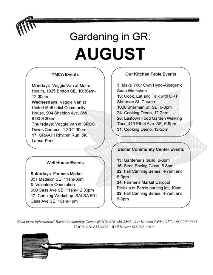Gardening in GR August 2013