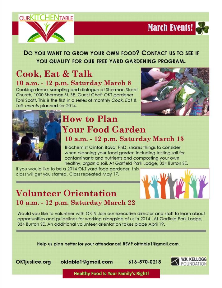 March Flyer 2014