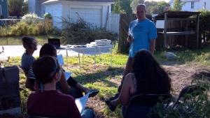 Dr. Boyd leading 2013 gardening class.