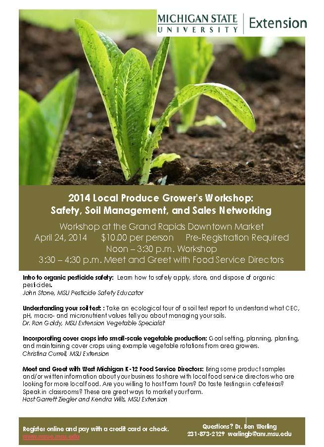 April 24 Local Grower Workshop