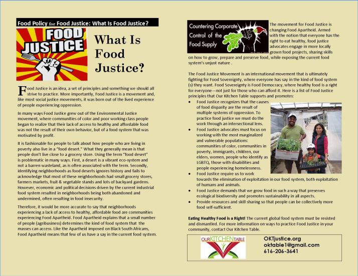 OKT WHAT IS FOOD JUSTICE