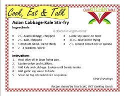 Asian ABbage Kale stir fry