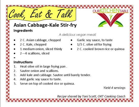Asian ABbage Kale stir fry