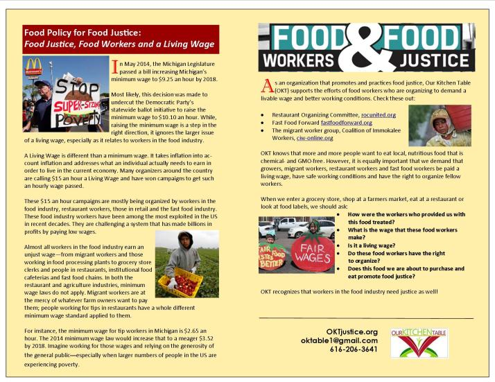 Food Justice, Food Workers and a Living Wage 4
