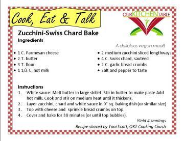Zucchin Swiss Chard bake