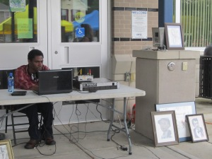 """Fine artist and DJ Derrick """"Vito"""" Hollowell has shown his art as part of the market's grand opening celebrations the past two years."""