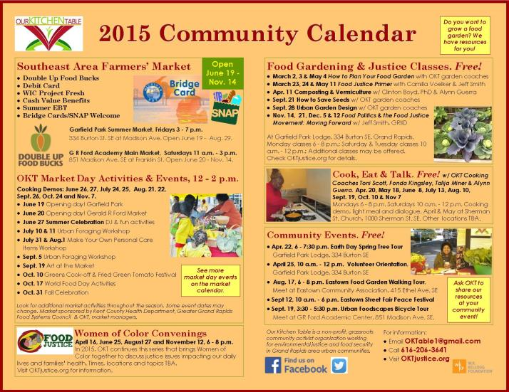 Community Calendar 2015 online