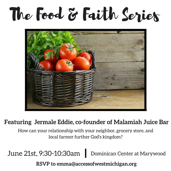 Food &Faith Series_June 2016