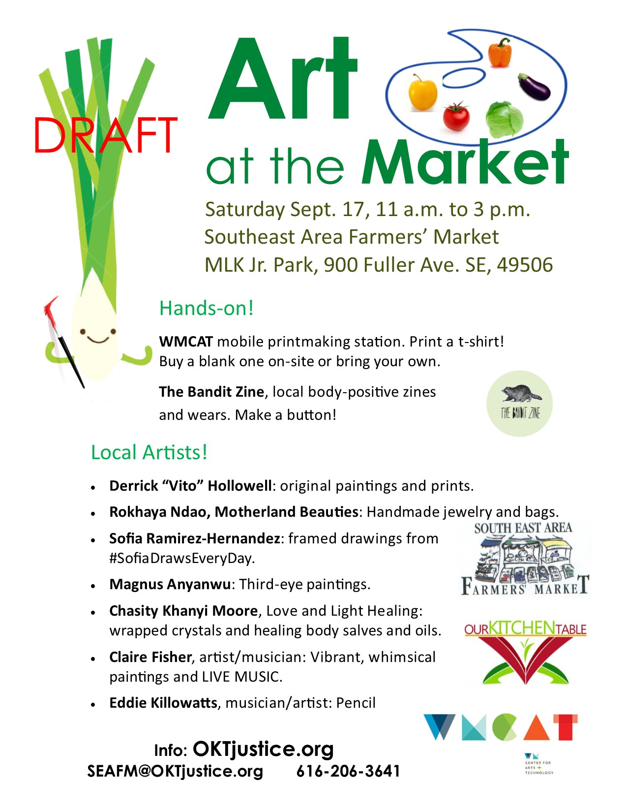 Art at the Market 8x11 flyer