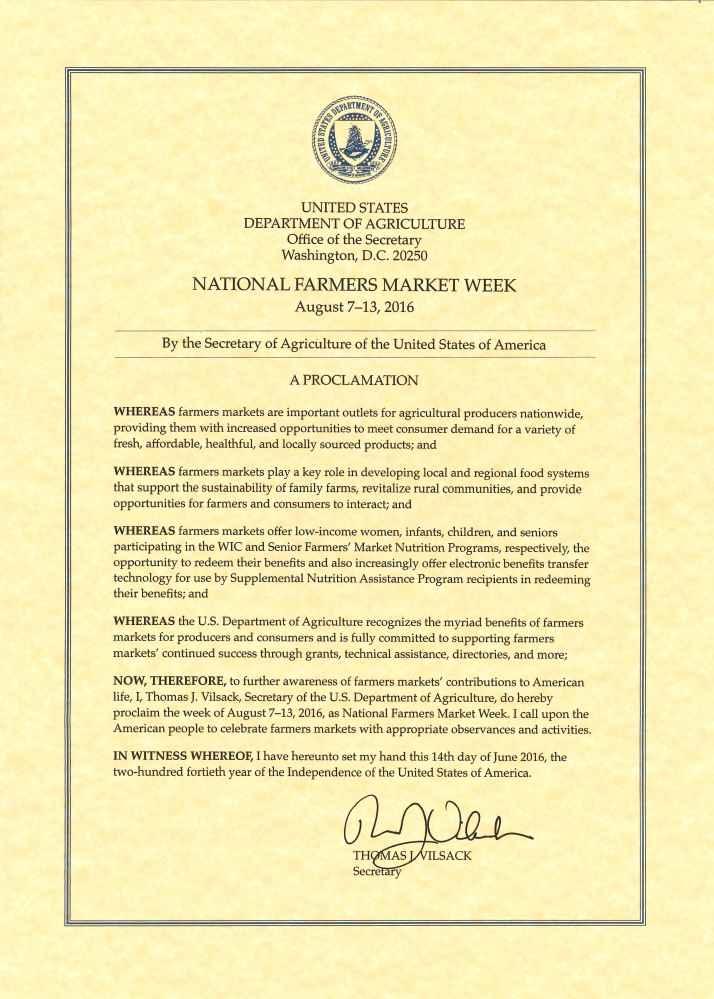 NFMW proclamation 2016