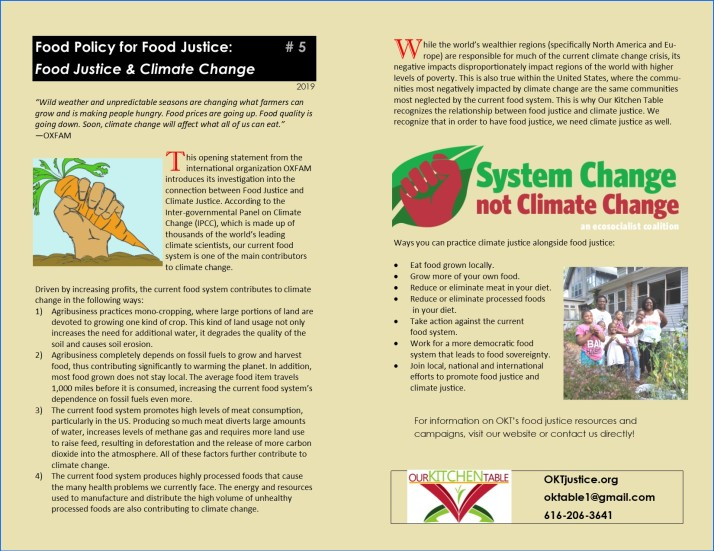 Climate Change & Food Justice O 19