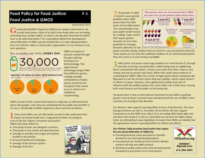 GMOs & Food Justice O