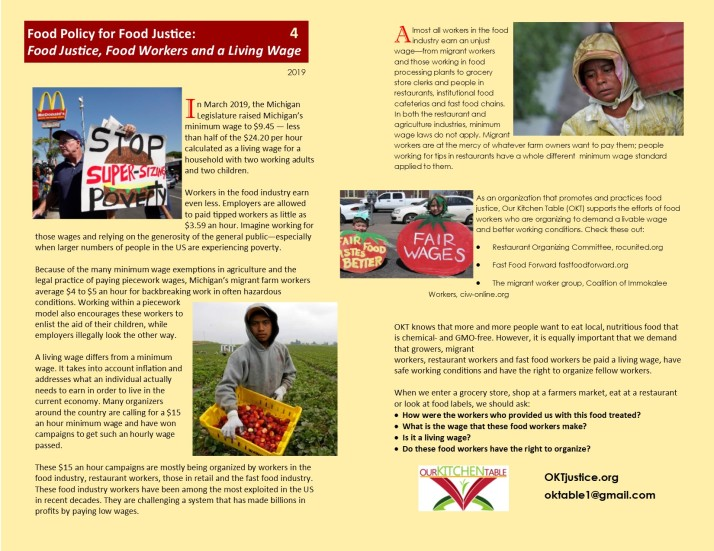 REVISE Food Justice, Food Workers and a Living Wage 4
