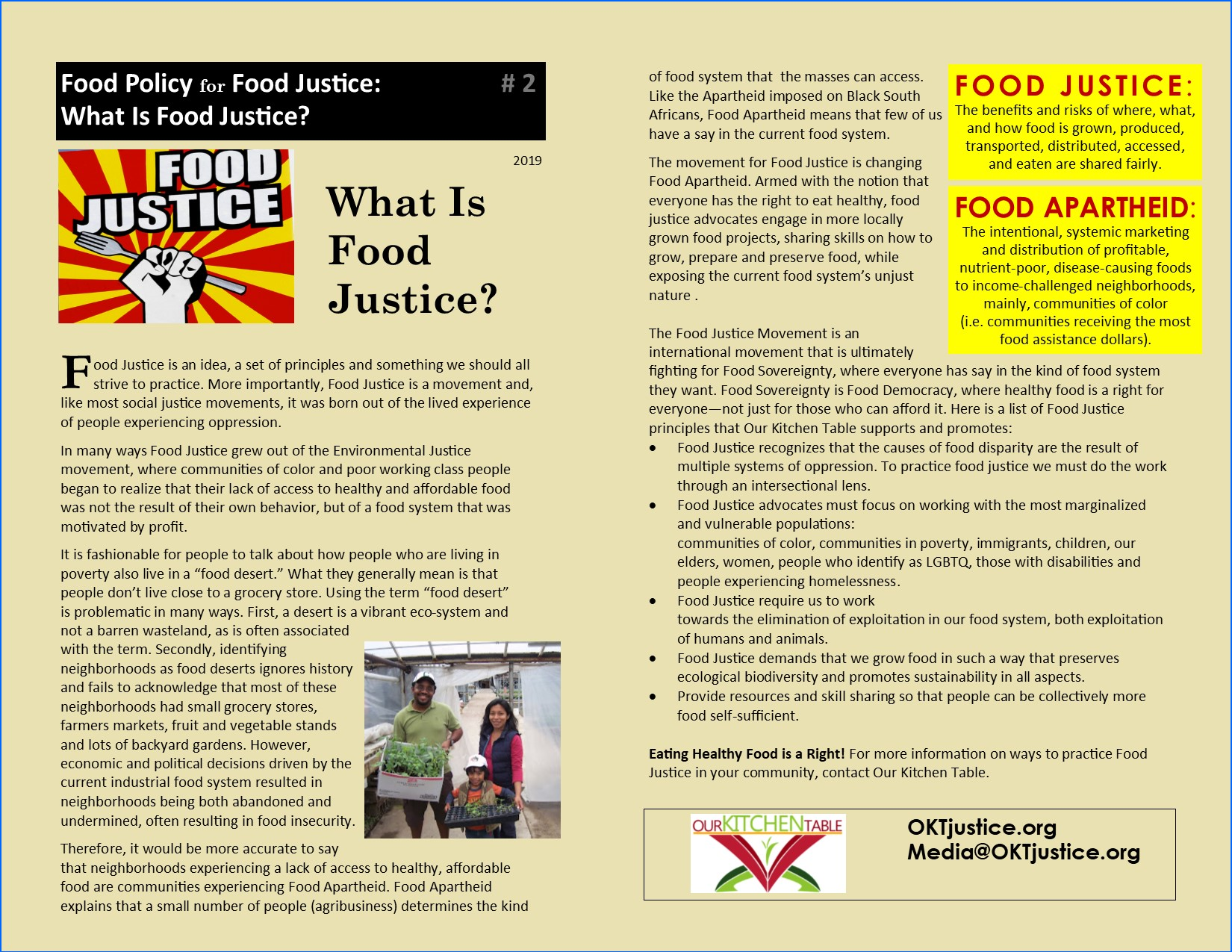WHAT IS FOOD JUSTICE O 19