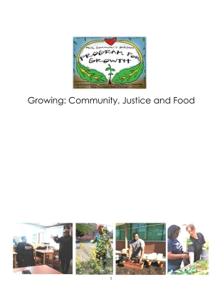 Growing Community, Justice and Food 3-4-20